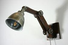 Wandlampe Industrielampe Holz Metall Industrie Fabriklampe vintage Leselampe