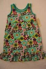 NEW Girls Sleeveless Dress Small 6 - 6X Party Outfit Green Floral Flowers