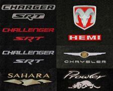 Chrysler Vehicle 2pc Velourtex Carpet Front Row Floor Mats - Choose Color & Logo