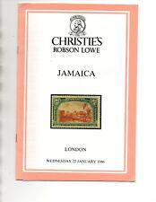 Christie Robson Lowe January 1986 JAMAICA Auction Catalog + P/R