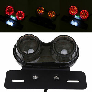 LED License Plate Turn Signal Tail Light Tailight Fit For Cruiser Buggy Bike