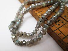 Faceted Labradorite Rondelle Gemstone Beads 3mm