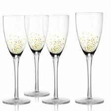 Fitz and Floyd Luster Gold Goblets Wine Glasses Party Glassware Set of 4