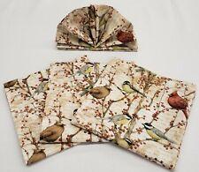 Birds & Berries Cloth Napkins (Set of 4)