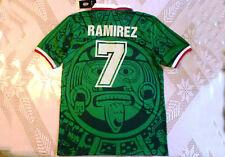 Ramon Ramirez #7 Mexico 1998 New Jersey Large Retro France Chivas Aba Sport