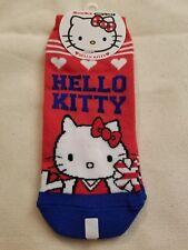 Sanrio Socks Adult Hello Kitty Red White Blue