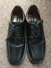Mens Formal Shoes Size 10 Black Real Leather Barratts