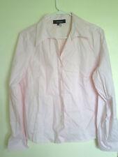 Jones Wear essentials Pink Quick care Long  sleeve Button Down shirt top  Sz  12