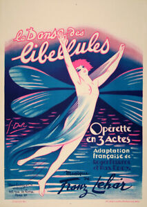 Original Vintage French Dance of the Fireflies Poster by Georges Dola