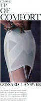 Gossard Pantie Comfort Girdle FASHION JEWELRY BANGLES Garters 4-Part Print Ad
