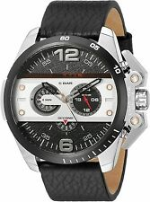 DIESEL DZ4361 Ironside  Black Dial Black Leather Strap Men's Chronograph Watch