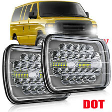 "180W 5x7"" 7x6 LED Headlight Hi/Lo DRL Beam for E-100 E-150 E-250 E-350 Econoline"