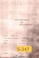 Sharnoa CNC 850/3, Milling Machine, Parts Manual 1984