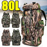 80L Outdoor Military Rucksack Tactical Backpack Hiking Camping Sport Travel