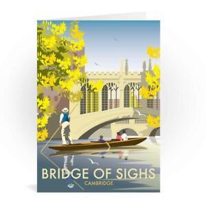 Bridge Of Sighs Cambridge Greetings Card - Dave Thompson