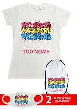 T Shirt Maglietta + sacca zaino Me Bambina Contro Te grafiche personalizzate