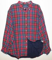 Polo Ralph Lauren Big and Tall Mens 2XB Red Plaid Heavy Flannel Shirt NWT 2XB