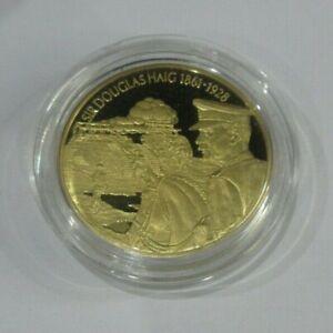 Sir Douglas Haig EAST CARIBBEAN STATES PIEDFORT G/PLATED 2003 2 DOLLAR COIN +COA