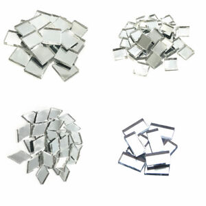 Mirror Glass Mosaic Tiles For Crafts Supplies Mirrors Wall Artwork 100 Pieces