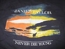 "Anvil 1988 JAMES TAYLOR ""Never Die Young"" Concert Tour (XL) T-Shirt"