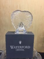 Waterford Crystal Fitted Heart Shaped Picture Frame Crystal Clear BNIB!
