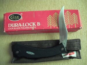 CASE DURA-LOCK B KNIFE IN BOX NEVER USED 1983 WITH SHEATH