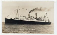 R.M.S. MONTCALM: Canadian Pacific Line shipping postcard (C18791)