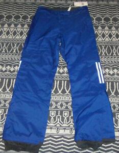 ADIDAS Mens 10K Cargo Pants Snowboarding FJ7496 BLUE Size SMALL