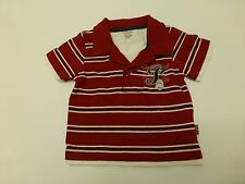 Pumpkin Patch Baby Boys Size 6-12M Red Knit Polo Shirt Great Condition