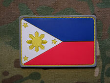 Philippines Flag PVC Tactical Hook Military Morale Patch Pinoy Navy