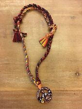 Peace Hand Braided Murano Sign Necklace