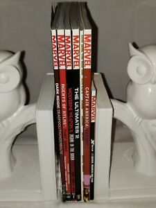 Mixed Lot of 7 Marvel TPB Graphic Novels: Deadpool, Wolverine, Captain America +