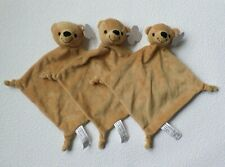 3 x BÄR TEDDY Teddybär FL b v Schmusetuch Schnuffeltuch Kuscheltuch in braun NEU