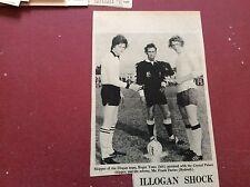 F1-1 ephemera 1972 picture illogen football team roger toms frank davies ref red