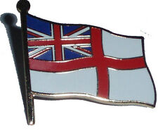 Royal Navy White Ensign pin badge - British Navy lapel badge