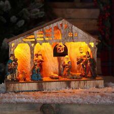 Noma Christmas Illuminated Nativity Scene Xmas Decoration Ornament - 26.5cm