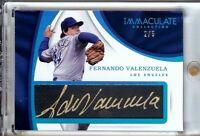 Fernando Valenzuela 2017 Immaculate Tweed Weave Blue Auto Dodgers #FV 2/5