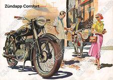 Zündapp Comfort Motorrad Poster Plakat Bild Affiche Foto Literatur Kunstdruck