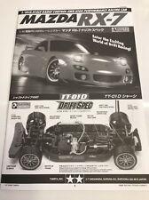 Tamiya TT01D TT-01D Mazda RX-7 User Manual Instruction Book OZRC Models