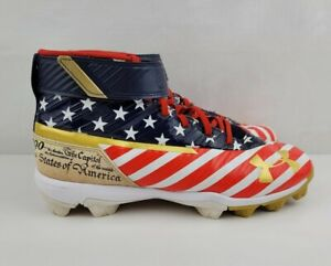 Under Armour HARPER 3 USA FLAG Red White Blue 6Y Youth Cleats Limited Edition