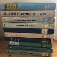 LOT OF 10 VINTAGE LANDMARK HISTORY BOOKS CHILDRENS BOOKS HOMESCHOOL -Exlib