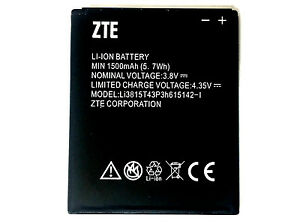 ZTE OEM Li-ion Phone Battery 3.8V Typ 1500mAh 5.70Wh Li3815T43P3h615142-I