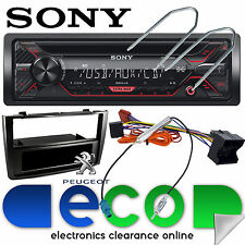 Peugeot 308 cc/sw Sony Cd Mp3 Usb Aux Iphone Coche Radio estéreo Negro Panel Kit