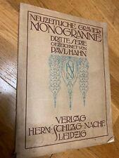 Monogramme Neuzitliche Gravier FONTS german typography '20 Druck von Herm