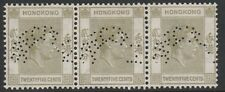 082 HONG KONG 1938 KG6 25xc x 3 perf SPECIMEN fine mint less than 400  produced