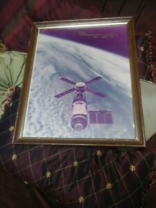 "NASA Large Photo Skylab Dated February 8th 1974 Signed ""Bob"" Astronaut Engineer?"