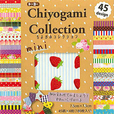 "180 Sheets (45 Design) Japanese 3"" Origami Artwork Folding Paper Washi Chiyogami"