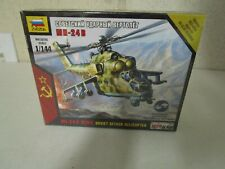Mn-24B Soviet Attack Helicopter 1/144 scale by Zvezda #7403