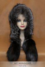 Luxury SAGA BLUE FROST FOX Fur Hat Eskimo Silver Chapka Pelzmütze Fellmütze Ski