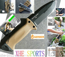 Gerber USA Made LMF II Survival Pig Knife - Coyote Brown - Serrated  22-41400